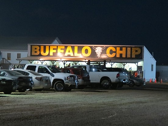 Arriving at the Buffalo Chip In Sturgis - Tee Roy