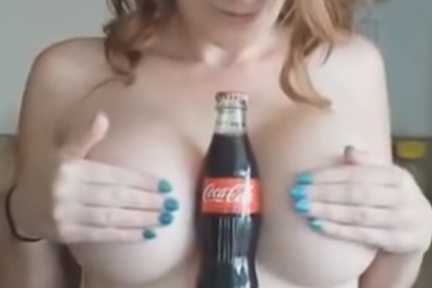 hold a coke with your breast challenge